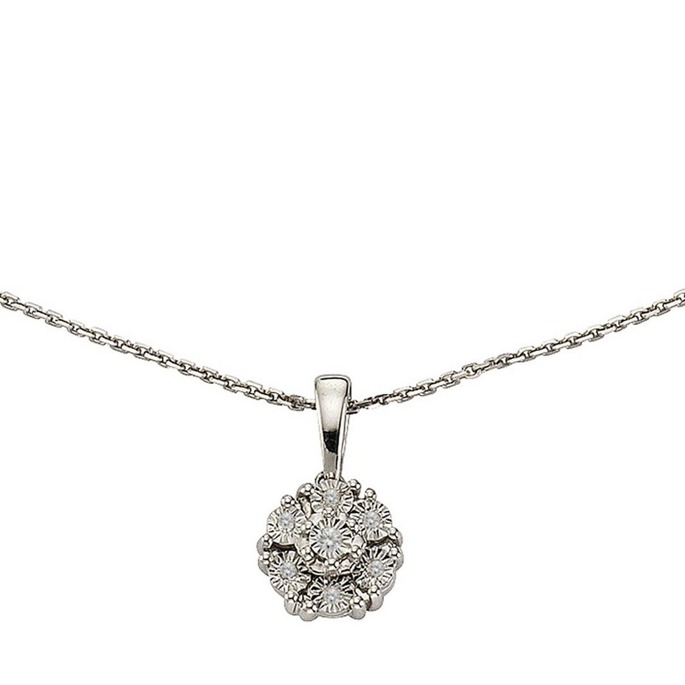 4fc80a000d58 CELESTA Collier »925 - Silber 7x Diamant« kaufen   OTTO