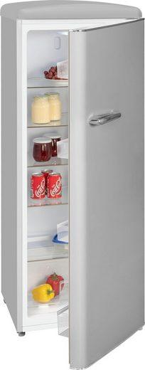 exquisit Vollraumkühlschrank RKS 325-16 RVA++ GR, 144 cm hoch, 55 cm breit, Retro