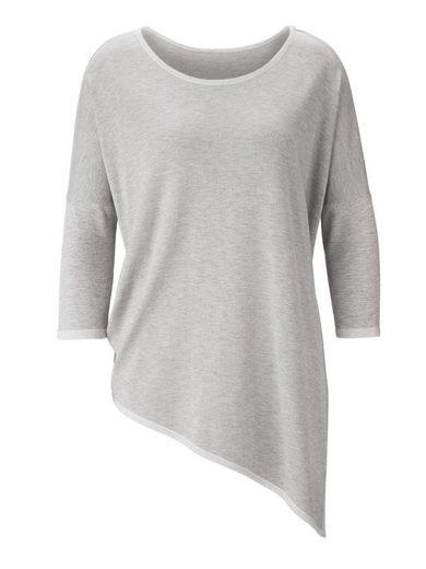 Pullover Hellgrau Kontrastfarbenen Glanzdetails Heine Timeless Mit vm0wN8n