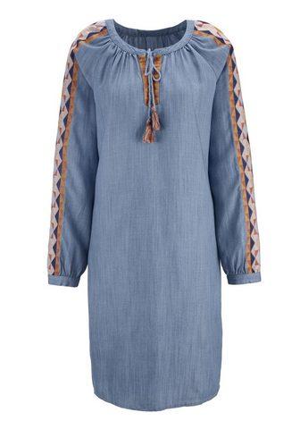 HEINE CASUAL džinsinė suknelė su Ethno-Stick...