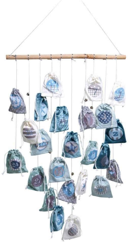 befüllbarer Adventskalender »Magic Bags«, inkl. Lichterkette mit 20 LEDs