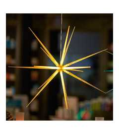 LED Deko-Stern, 3D-Optik, Ø 51 cm, weiß