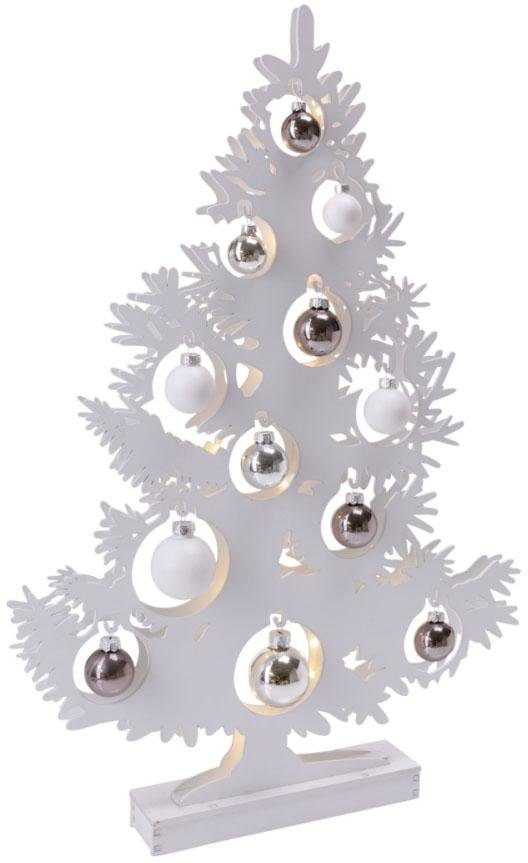 LED Tannenbaum mit Glaskugeln, Höhe 64 cm