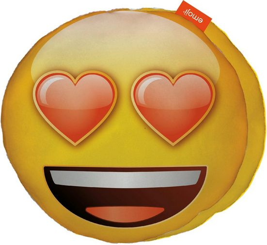 Dekokissen »Love Eyes«, Emoji, im Smiley Design