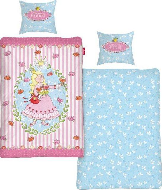 Kinderbettwäsche »Prinzessin Anneli Flower«, Steinbeck, mit Blumen & Prinzessin   Kinderzimmer > Textilien für Kinder > Kinderbettwäsche   Baumwolle   OTTO