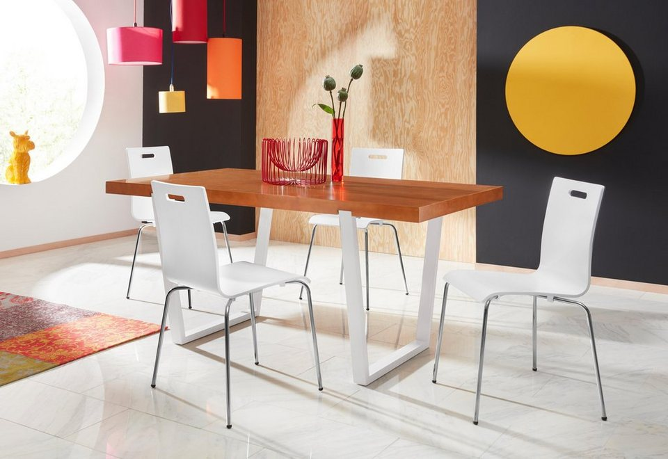 andas esstisch aura in zwei verschiedenen farben und mit tollem beingestell online kaufen otto. Black Bedroom Furniture Sets. Home Design Ideas
