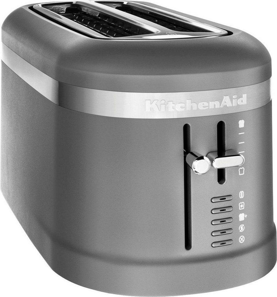 kitchenaid toaster 5kmt5115edg 2 lange schlitze f r 4. Black Bedroom Furniture Sets. Home Design Ideas