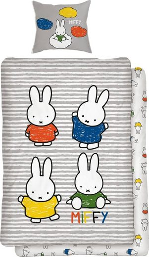 Kinderbettwäsche »Family Time«, Miffy, mit Hasen Motiven