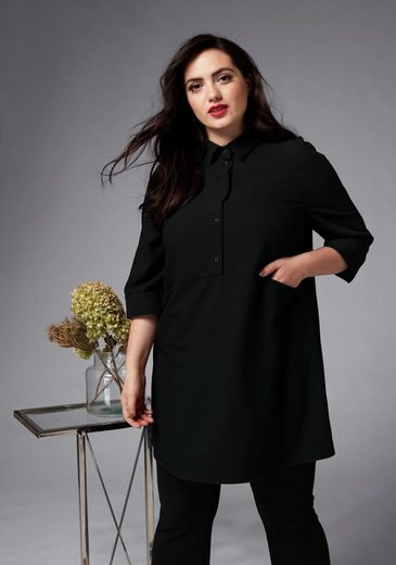 GMK Curvy Collection Longbluse mit langer Passform