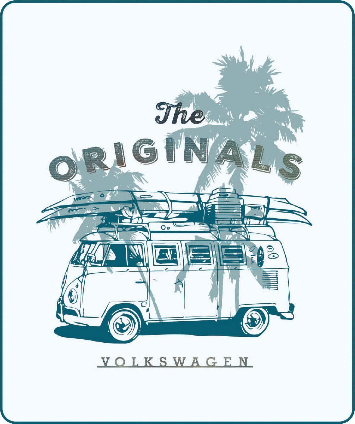Wohndecke »The Originals«, Volkswagen, mit Bulli Motiv & Palmen