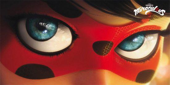 Strandtuch »Ladybug Eyes«, Miraculous, mit großer Nahaufnahme
