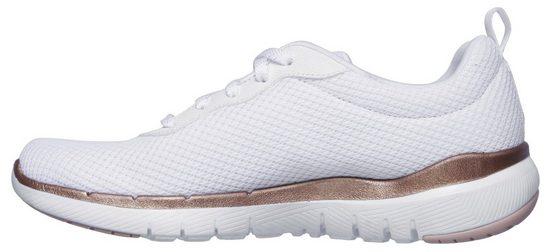 First Insight« Mit »flex Appeal Goldfarbenen 3 Sneaker 0 Akzenten Skechers wqpHIPf