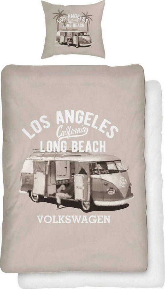 Bettwäsche Grey Bulli Volkswagen Mit Bulli Motiv Online Kaufen