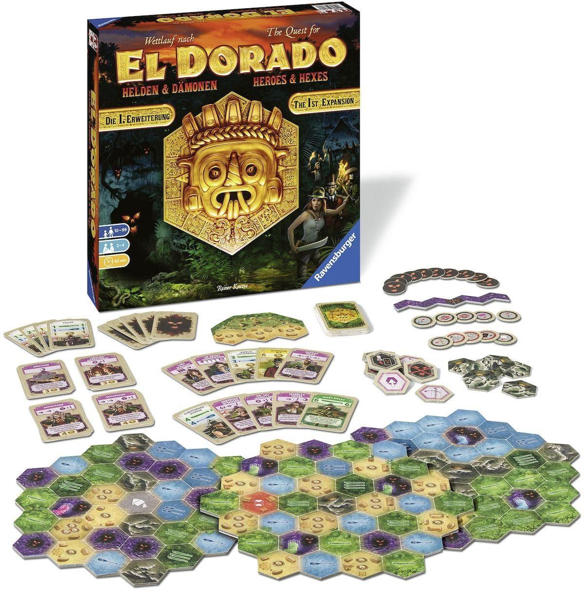 Brettspiel Zusatz, »Wettlauf nach El Dorado Helden & Dämonen - 1. Erweiterung«