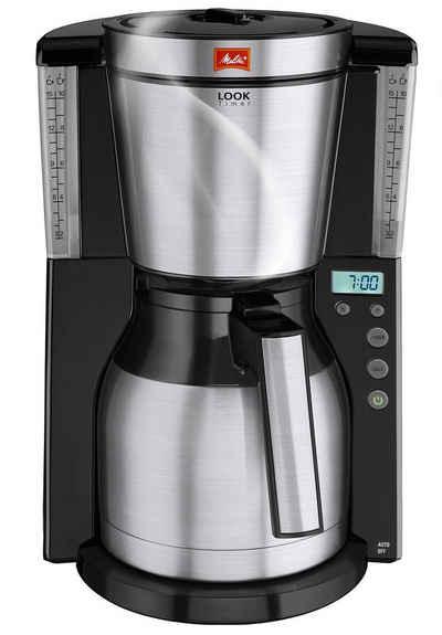 Melitta Filterkaffeemaschine Look® Therm Timer 1011-16, 1,25l Kaffeekanne, Papierfilter 1x4, mit Thermkanne und Timerfunktion
