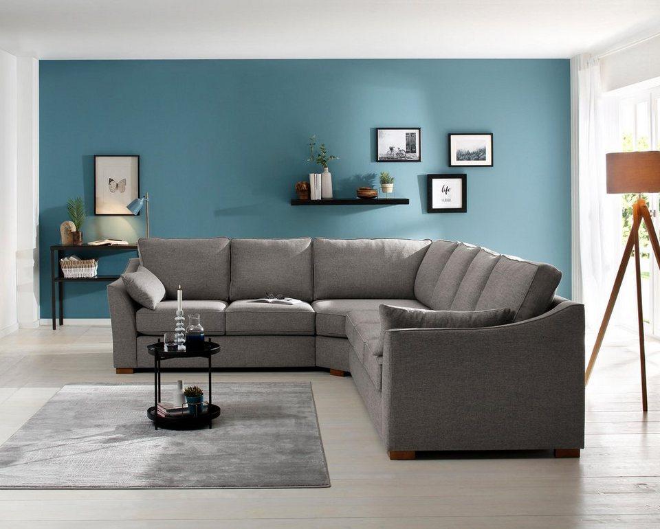 home affaire ecksofa clemente mit langem schenkel links. Black Bedroom Furniture Sets. Home Design Ideas