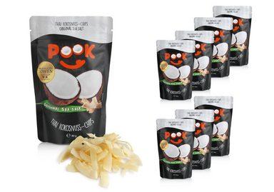 POOK Kokosnuss Chips Original Sea Salt 8er Set á 40g