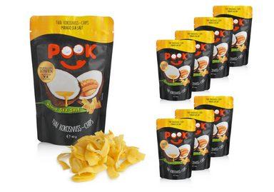 POOK Kokosnuss Chips Mango Sea Salt 8er Set á 40g
