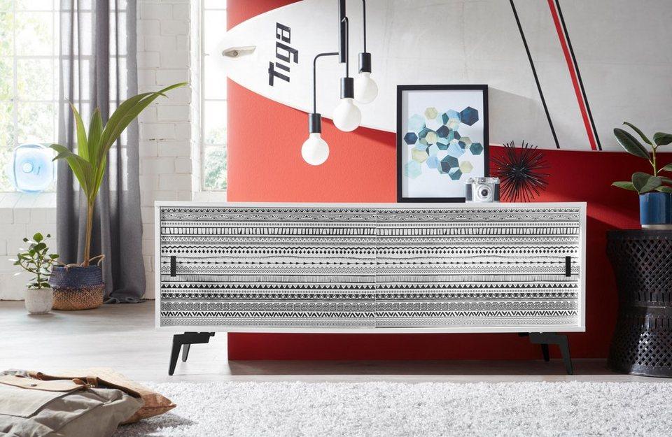 bruno banani sideboard tropical mit 2 schiebet ren. Black Bedroom Furniture Sets. Home Design Ideas