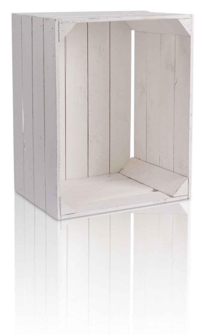 CHICCIE Holzkiste »Regale Weiß 50x40x30cm - Kisten Weinkisten« (1 Stück)