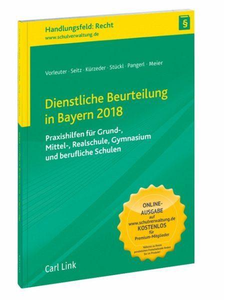 Broschiertes Buch »Dienstliche Beurteilung in Bayern 2018«