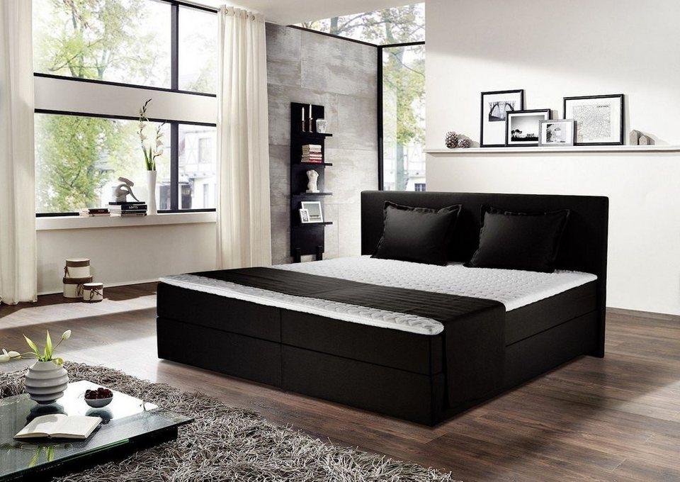 kawola boxspringbett stoff schwarz versch gr en vao online kaufen otto. Black Bedroom Furniture Sets. Home Design Ideas