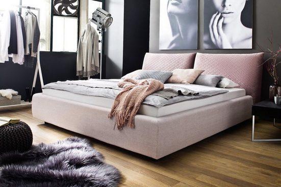 KAWOLA Polsterbett Stoff rosa versch. Größen »MELIE«