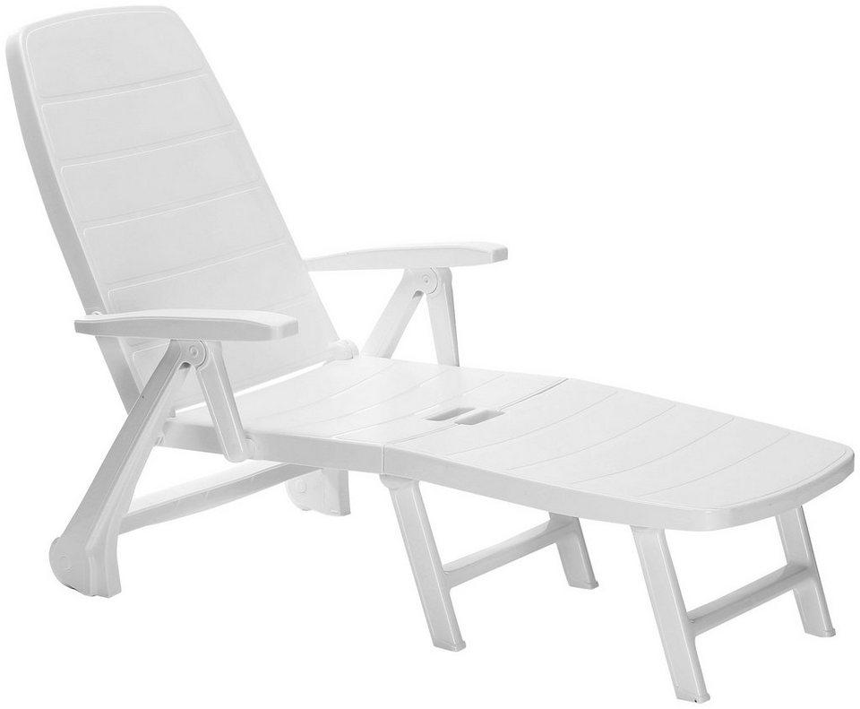 best gartenliege kopenhagen kunststoff wei inkl auflage online kaufen otto. Black Bedroom Furniture Sets. Home Design Ideas