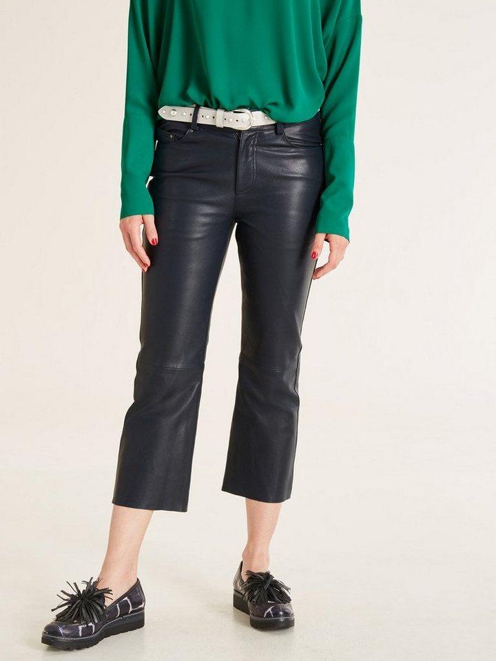 Damen heine  STYLE Lederhose In 5-Pocket -Style blau | 04251297616306