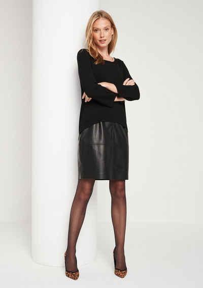 COMMA Raffiniertes Kleid im smarten Materialmix 334553a024