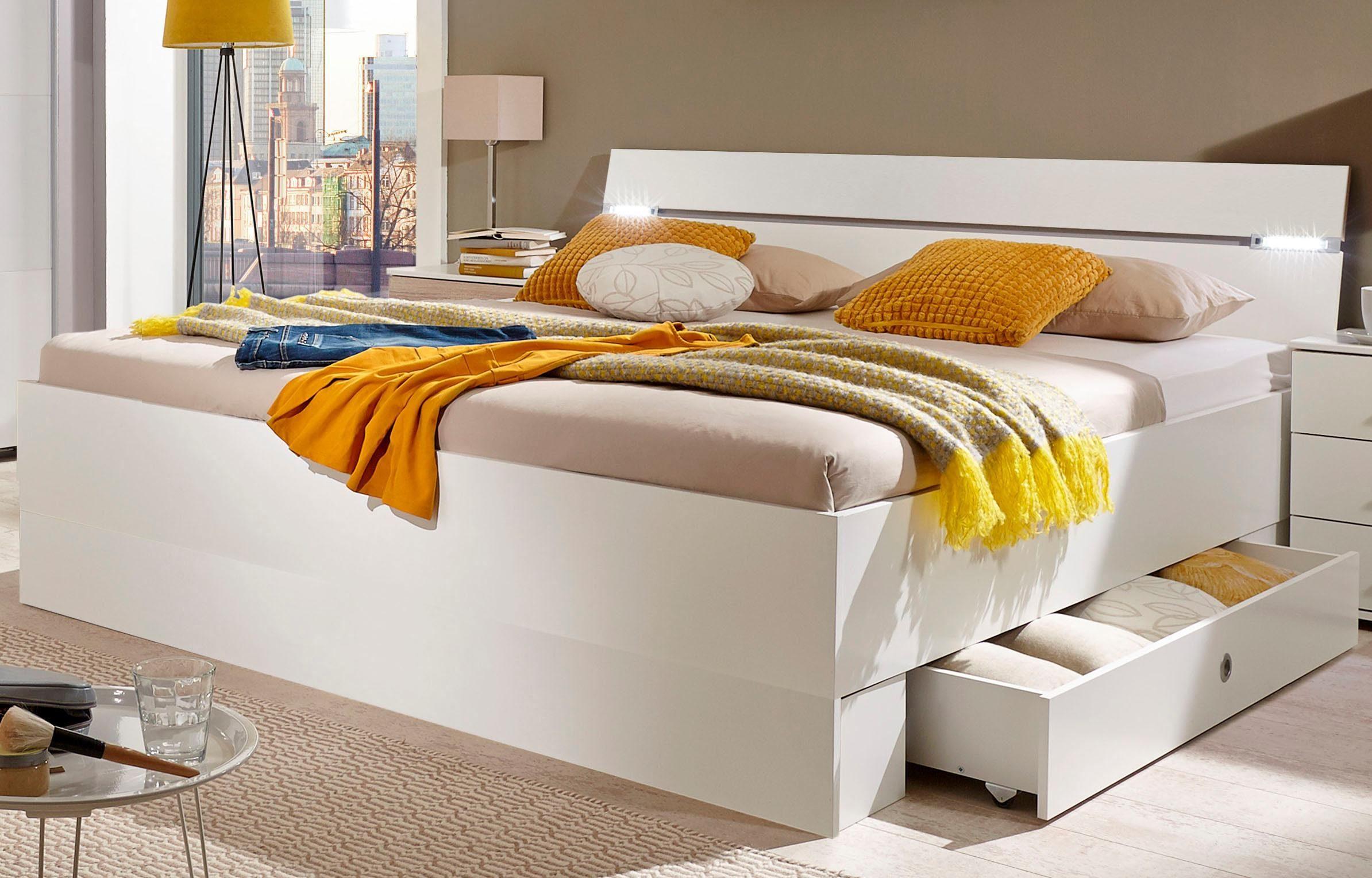 Wimex Bett »Cheep« mit LED-Beleuchtung und Schubkästen