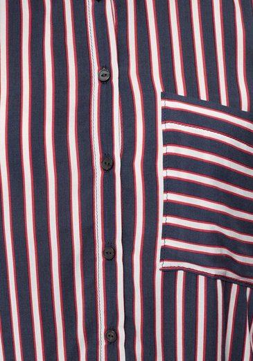 gestreift weiß Streifen Kurzer Marine Form »mifolo« rot In Mit Ltb Hemdbluse CxorBedW