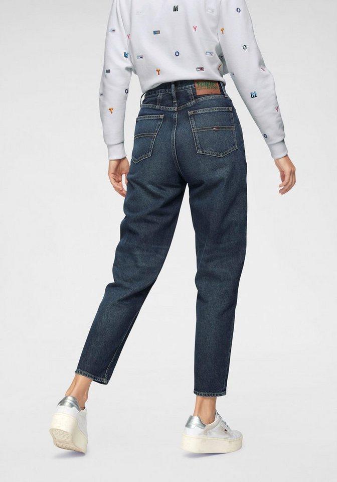 tommy jeans tapered fit jeans mit hohem bund otto. Black Bedroom Furniture Sets. Home Design Ideas