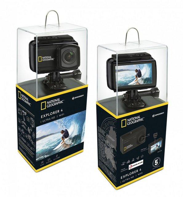 Action, Outdoorkameras - NATIONAL GEOGRAPHIC Action Cam »4K Ultra HD 30fps WLAN Explorer 4«  - Onlineshop OTTO
