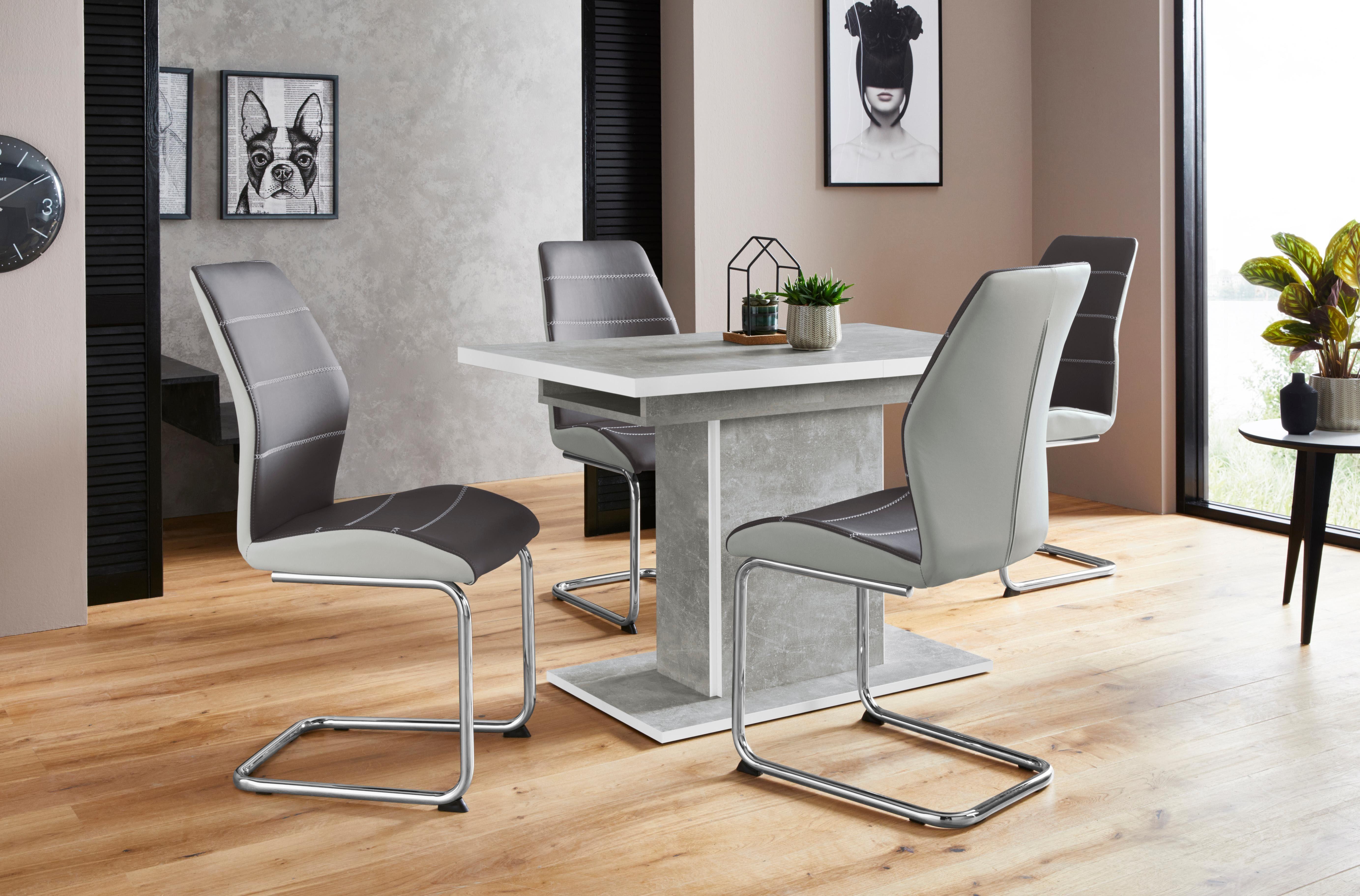 Essgruppenset »Alice G« (5tlg.), bestehend aus 4 Ornella Stühlen ohne Armlehne und dem Alice Esstisch