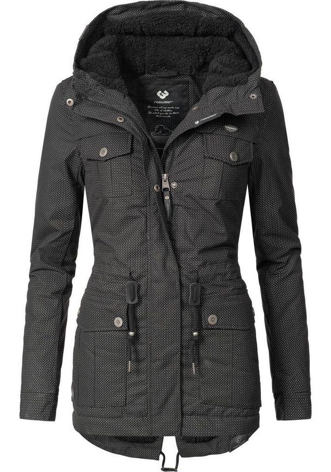 Ragwear Wintermantel »YM-Laika« stylischer Baumwollparka mit Kapuze ... 73f56dd5c1