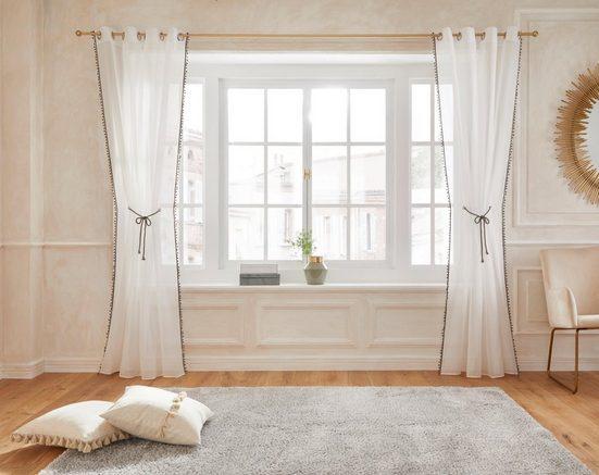 Gardine »Mira«, Guido Maria Kretschmer Home&Living, Ösen (1 Stück), Mit Raffkordel