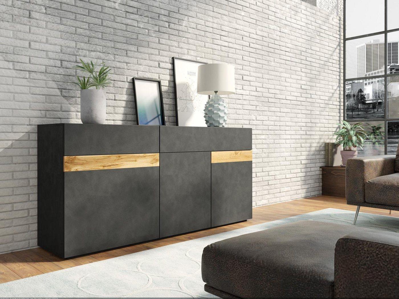 Vitrinen und Schränke - Sideboard »SILKE LIGHT«, Breite 169 cm  - Onlineshop OTTO