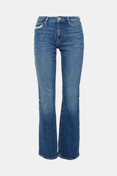 Esprit Stretch-Jeans mit bunten Stitchings