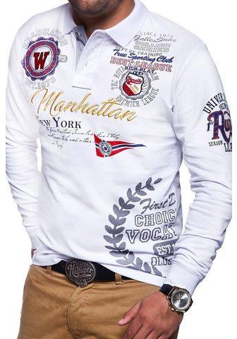 behype Polo marškinėliai »MANHATTAN« su ilgis...