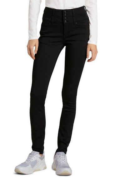 TOM TAILOR Denim Skinny-fit-Jeans mit hohem geknöpftem Bund