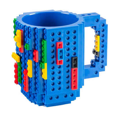 Goods+Gadgets Tasse »Brick Mug Tasse mit Bausteinen«, Kaffeetasse Kaffee-Becher 350ml