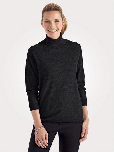Mona Rollkragen-Pullover mit Merino-Schurwolle