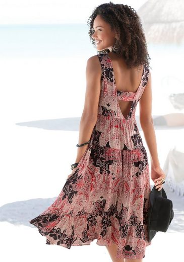 LASCANA Strandkleid mit tiefem Rückenausschnitt