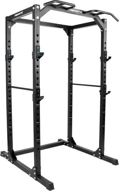 MSports® Kraftstation »Power Rack Premium Cage H/B/T - 215x120x140 cm Kraftstation bis 200 kg«
