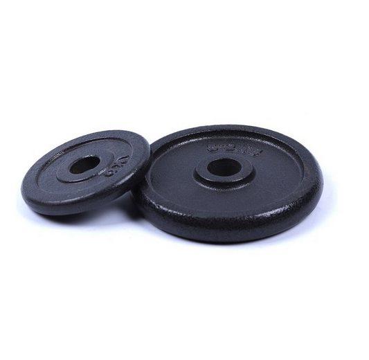 breluxx fitness Hantelscheibe »Hantelscheiben Set Guss (2x 20 kg) Gewichte Gewichtsscheiben 30 mm«, (2-tlg)