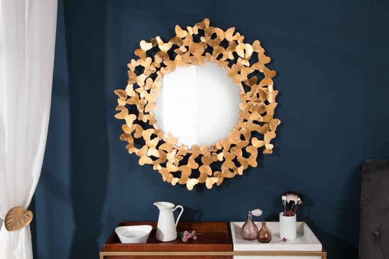 riess-ambiente Wandspiegel »BUTTERFLY 78cm gold«, Schmetterlingsrahmen