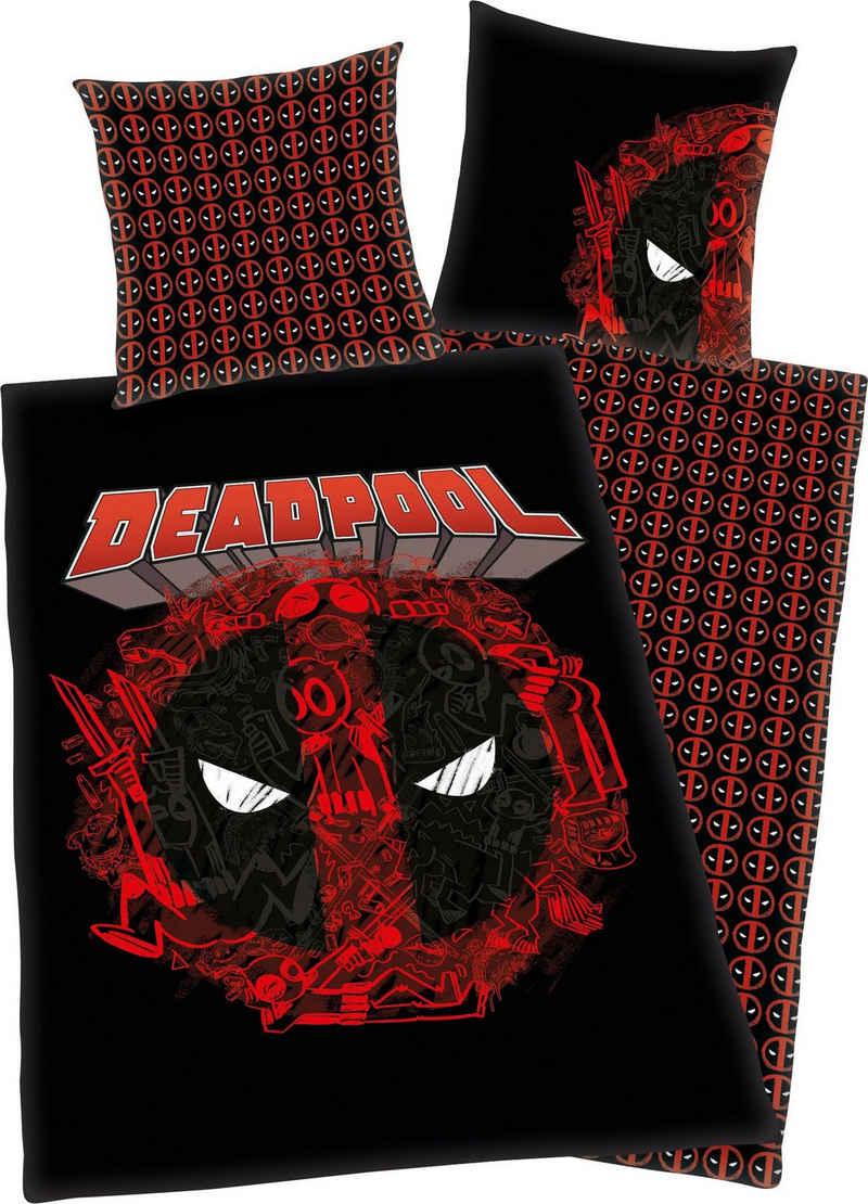 Wendebettwäsche »Deadpool«, MARVEL, mit tollem Deadpool Motiv
