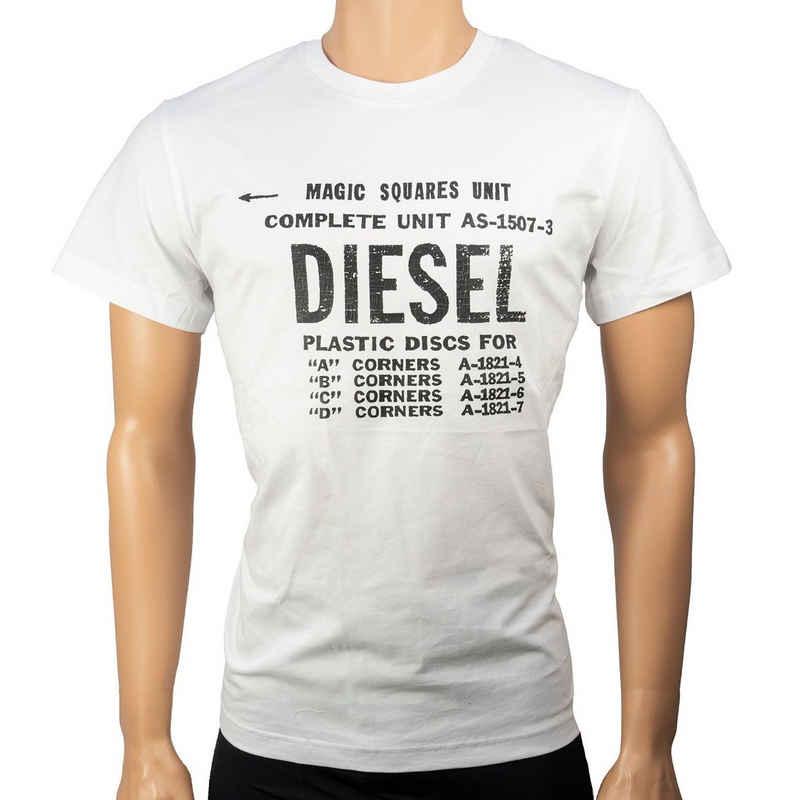 Diesel T-Shirt »00SXE6-0091A-100« weiss