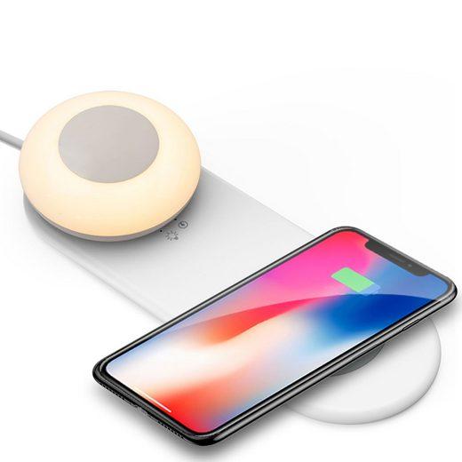 kalb »kalb QI Tischladegerät mit Akkuleuchte dimmbar Smart Wireless Nachtlicht Nachttischlampe Schreibtischleuchte« Induktions-Ladegerät